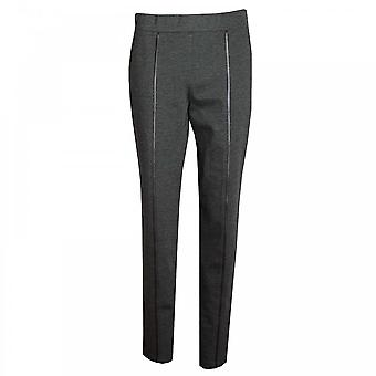 Frank Lyman Pull On Faux Leather Detail Trousers