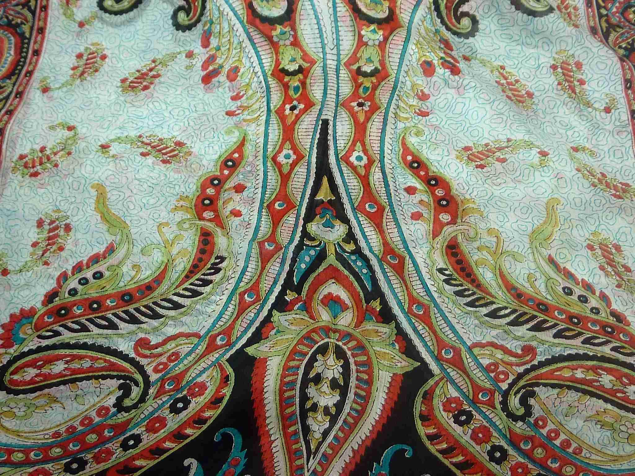 Mulberry Silk Traditional Long Scarf Safia Black by Pashmina & Silk