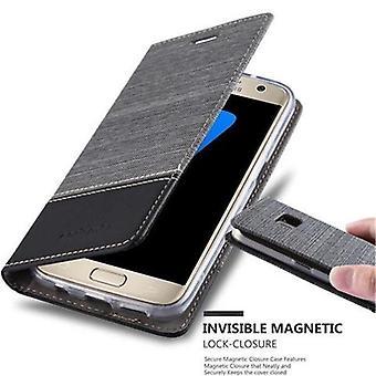 Cadorabo tilfelle for Samsung Galaxy S7 tilfelle tilfelle deksel - telefonveske med magnetisk lås, stativ funksjon og kortrom - Case Cover Beskyttende Case Book Folding Stil