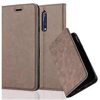 Cadorabo Case for Nokia 8 2017 Case Cover - Phone Case with Magnetic Closure, Stand Function and Card Case Compartment - Case Cover Case Case Case Case Case Book Folding Style