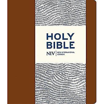 NIV Journalling brun läderimitation Bibeln med lås (nya internationella Bibeln)