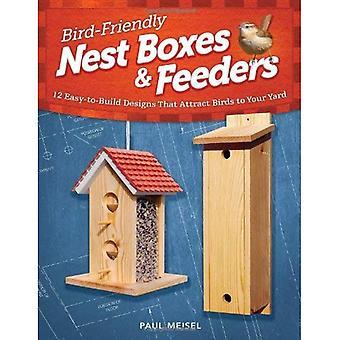 Oiseaux de mangeoires et nichoirs amical