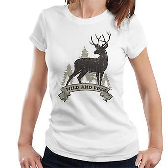 Wild und frei Hirsch Damen T-Shirt