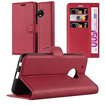 Cadorabo Hülle für Motorola MOTO G5 PLUS case cover - Handyhülle mit Magnetverschluss, Standfunktion und Kartenfach – Case Cover Schutzhülle Etui Tasche Book Klapp Style