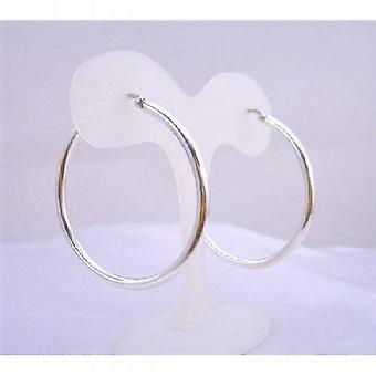 Sterling Silver Hoop Earrings Endless Wire Sterling Silver Earrings