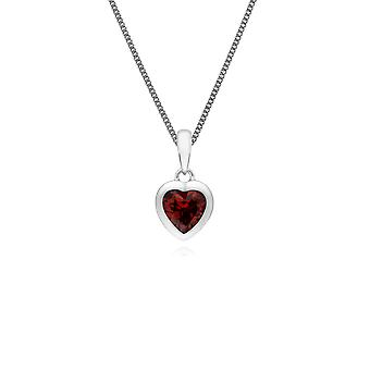 Collier pendentif en forme de cœur essentiel en 925 Argent sterling 270P028703925