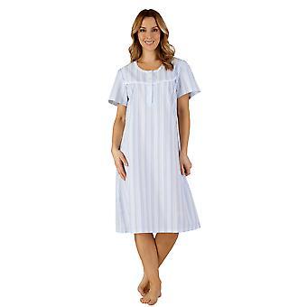 Slenderella ND3221 Women's Woven Night Gown Loungewear Nightdress