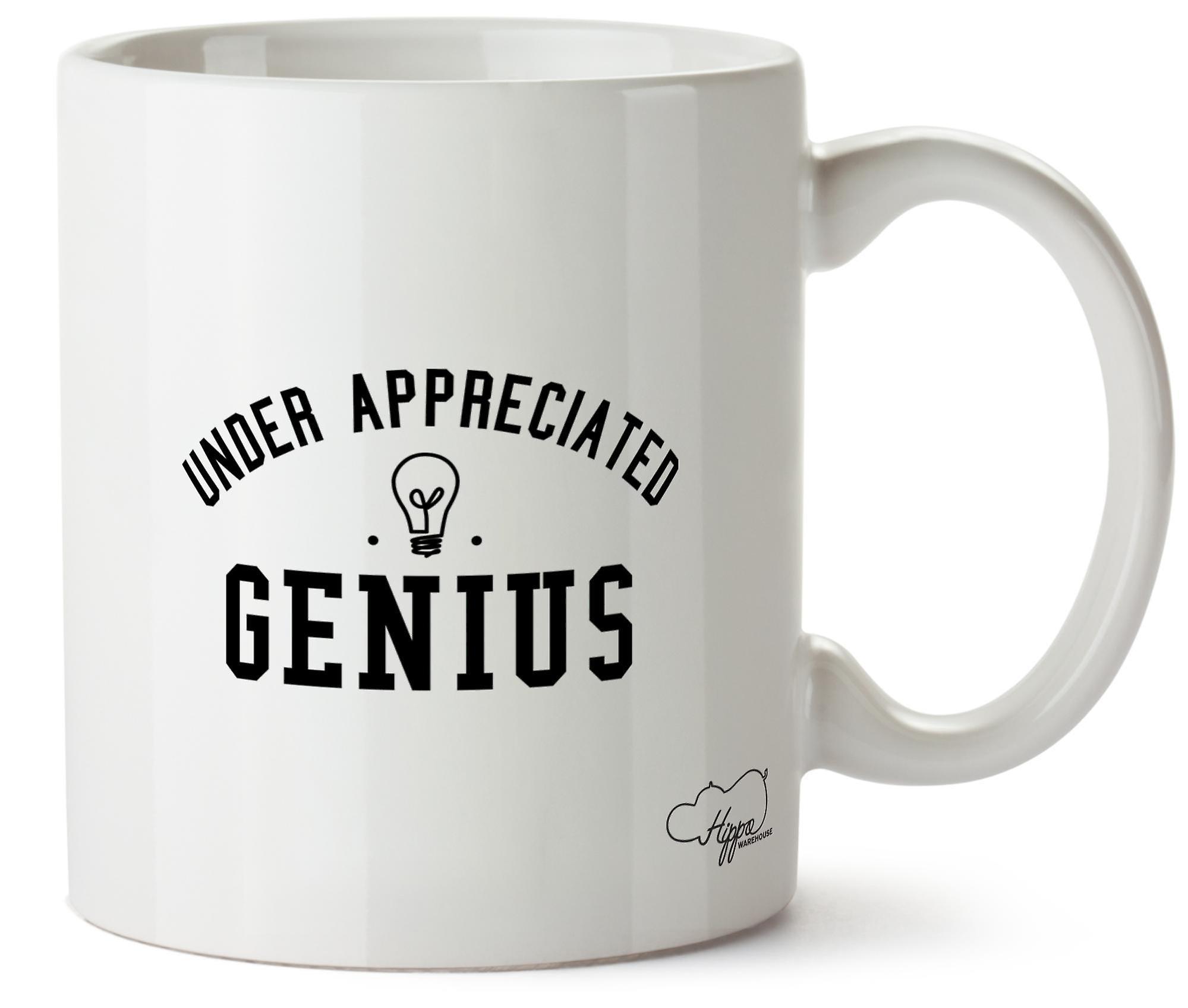 Hippowarehouse Under Apprécié Genius 283,5Gram Mug Cup, Céramique, Blanc, One Size (10oz)