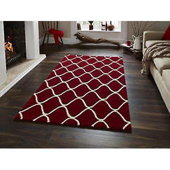 Elements EL65 Red  Rectangle Rugs Plain/Nearly Plain Rugs