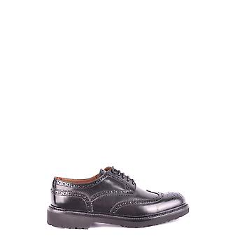 Doucal's Ezbc089019 Women's Black Leather Lace-up Shoes