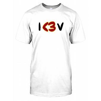 Eu<3 V - I Love Peace - Conspiracy Mens T Shirt v=
