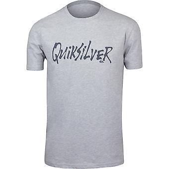 Quiksilver Mens Scriptual Cotton Poly Casual T-Shirt - Athletic Heather