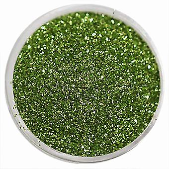1x Fine-grained glitter green