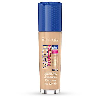 Rimmel London Match Perfection Foundation SPF20 # 200 Soft Beige