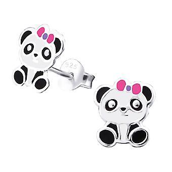 Gyerekek ' s ezüst Panda Stud fülbevaló
