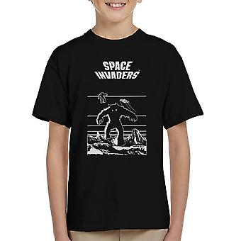 Space Invaders Game Classic White Graphic Kid's T-Shirt