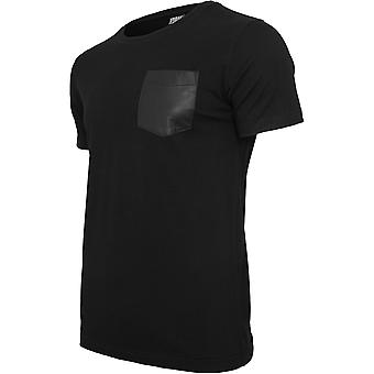 Urban Classics Men's T-Shirt Leather Imitation Pocket