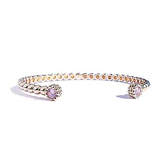 Ah! Jewellery Highly Detailed Gold Filled Open Bangle