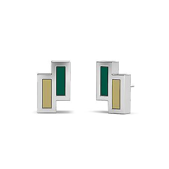 University of South Florida Stud Earrings In Sterling Silver Design by BIXLER