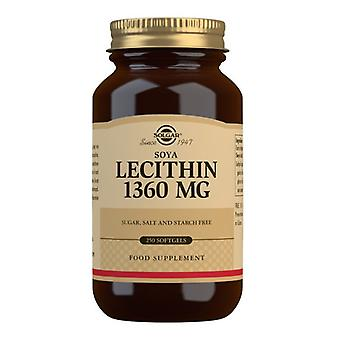 Solgar lecithin 1360mg Softgels 250 (1541)
