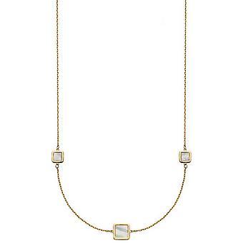 אלמנטים זהב כרית מעורב אמא של שרשרת תחנת פנינה-זהב/קרם