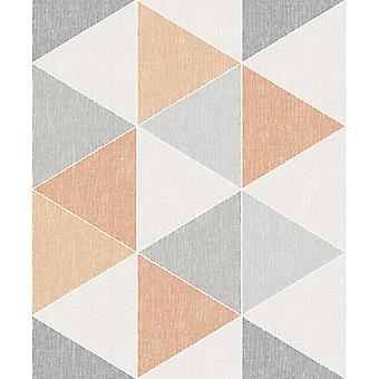 Arthouse Scandi Range Triangle Geometric 3D Effect Contemporary Pastel Smooth Wallpaper 908207