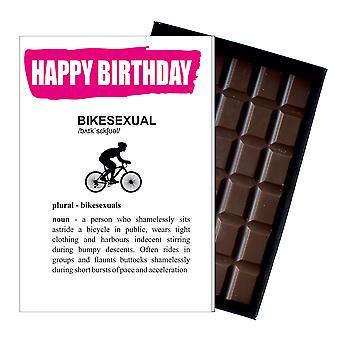 Morsom bursdag gave for syklist Mountain Bike Rider frekk Present Chocolate Card IYF172