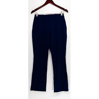 Du Jour Pants Pull-On Ponte Knit Ankle Length Blue A342199