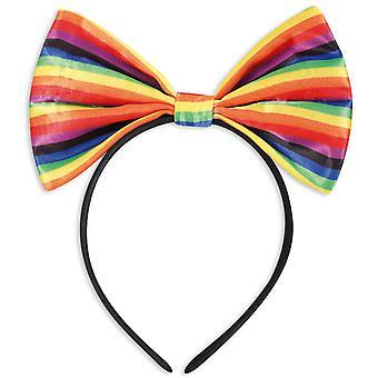 Hair hoop loop colorful Rainbow Rainbow bow tie accessory