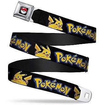 Seatbelt Belt - Pokemon - V.123 Adj 24-38' Mesh New pka-wpk002