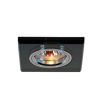 Diyas Crystal Downlight Shallow Square Rim Only Black, IL30800 Required To Complete The Item