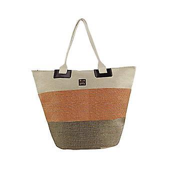 For Time Bolso de playa Tricolor Nature - Orange Women's Beach Bags (Naranja) 1x39x55 cm (W x H L)