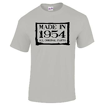 Men's 65th Birthday T-Shirt Made In 1954 Novelty Gifts For Him