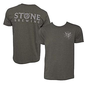 Stone Brewing Gargoyle Logo Olive Green Men's T-Shirt