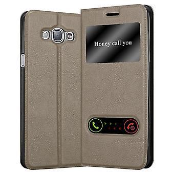 Cadorabo Caso per Samsung Galaxy A8 2015 Case Cover - Custodia del telefono con chiusura magnetica, funzione Stand e 2 Visualizzazione di Windows - Caso Cover Case Case Case Case Book stile pieghevole