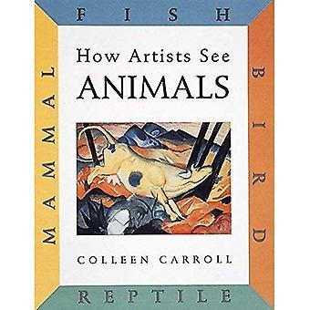 Como artistas ver animais: Mamíferos, peixes, aves, réptil