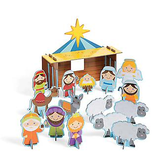 Christian Nativity Scene Christmas Playset for Kids | Christian Nativity Parties