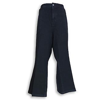 Isaac Mizrahi Live! Kvinner ' s jeans pluss denim beskjæres blå A293940
