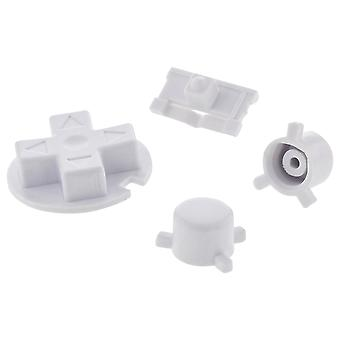 Replacement button set a b d-pad power switch for nintendo game boy pocket - white