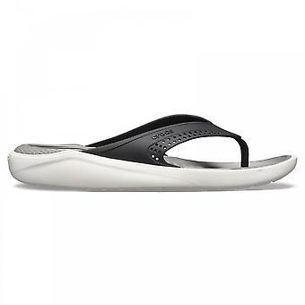 Crocs LiteRide flip flop sort/røg