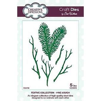 Creative Expressions Festive Collection - Pine Bough Die Set by Sue Wilson - CED3015