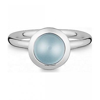 Quinn-zilveren ring met blauwe Topas-021838658
