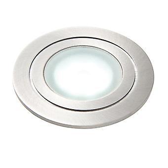 Saxby Lighting Hayz integrerad LED 1 ljus utomhus infälld ljus marin kvalitet borstat rostfrittstål, frostat IP67 67361