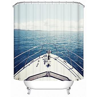 Sail Your Yacht Toward The Horizon Shower Curtain