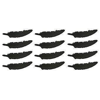 Rustic Brown Eagle Feather 12 Piece Cast Iron Drawer Handle Pull Set
