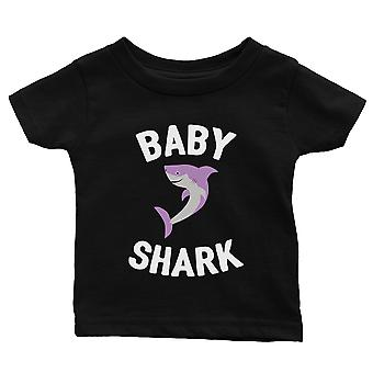 Daddy Mommy Baby Shark Family Matching Shirts Infant T-Shirt Black