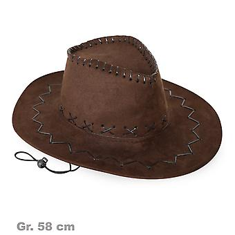 Cowboy hat Brown Western Hat suede look Wild West