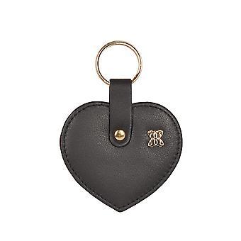 Hart Lakeland Lederen sleutelhanger in zwart