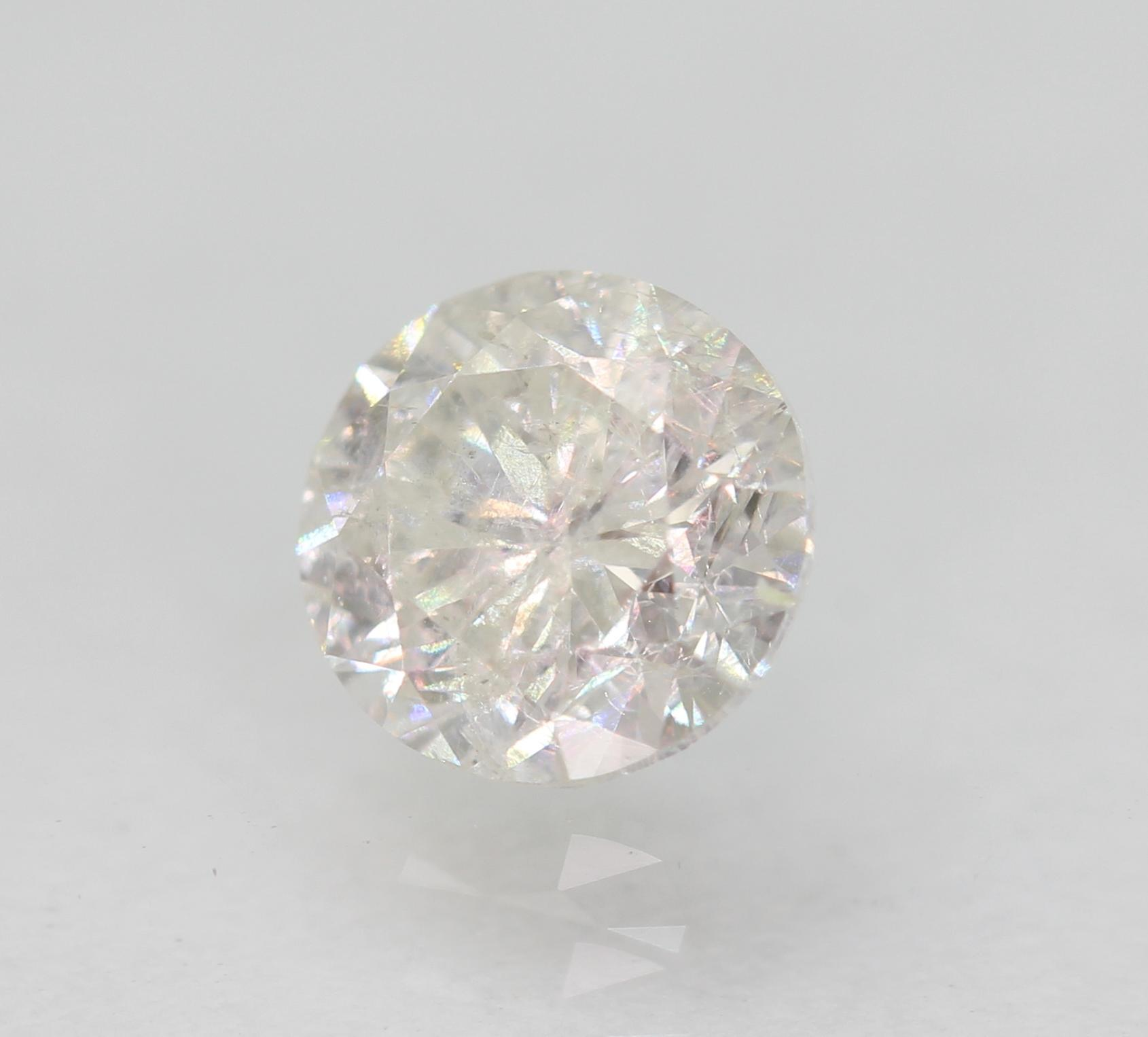 Certified 0.52 Carat F SI2 Round Brilliant Enhanced Natural Loose Diamond 4.99mm