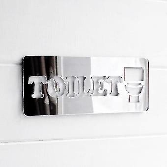 Toilet Chunky Text /Loo /Lavatory Acrylic Mirrored Door Sign